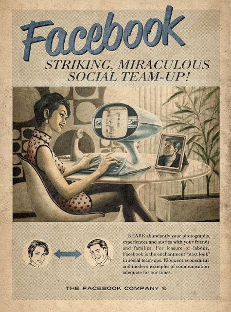 Ini Penampakan Sosial Media Top Jika di Ciptakan di Era 60an
