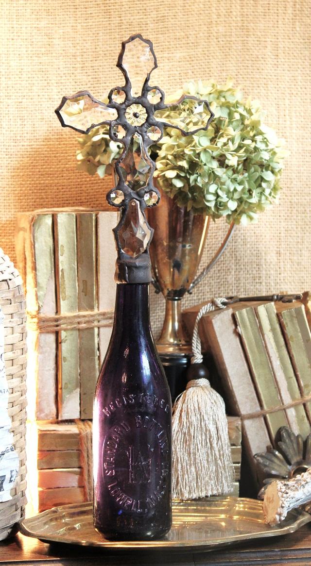 Cross Bottles, Bottle with Crystal Cross On Top, CrossBottles