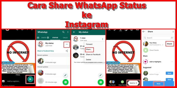 Cara Share WhatsApp Status ke Instagram