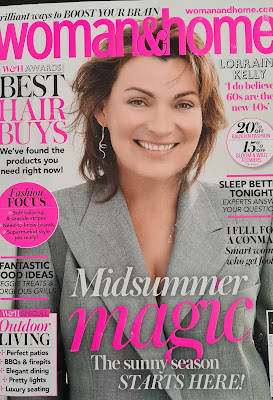 The front cover of Woman and Home Magazine June 2021 showing the retouching of 61 year old Lorraine Kelly to make her virtually unrecognisable