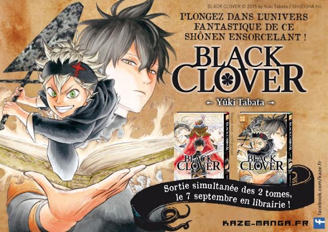 Un roman Black Clover sortira le 4 août au Japon