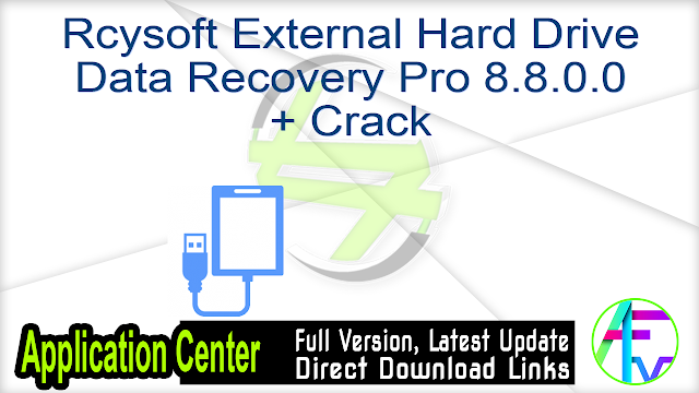 Rcysoft External Hard Drive Data Recovery Pro 8.8.0.0 + Crack