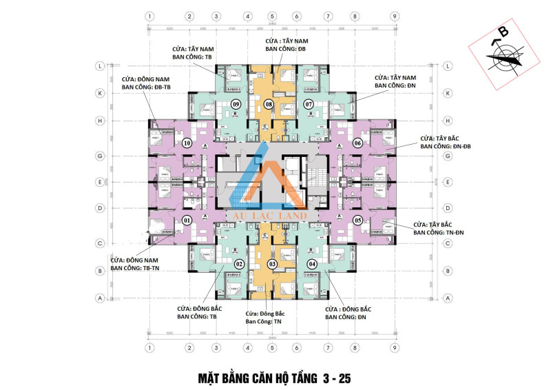 Mặt bằng thiết kế chung cư Mipec Kiến Hưng Hà Đông