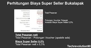 Rincian Contoh Perhitungan Biaya Super Seller Bukalapak 2021