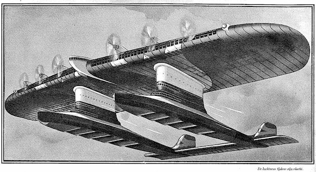 1933 retro-future flying illustrated