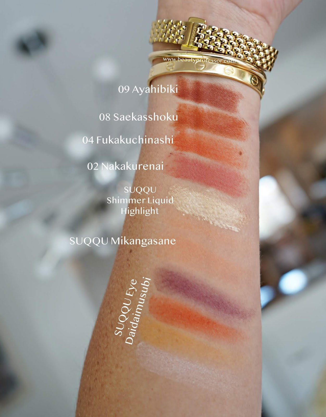 suqqu s/s2020 collection swatches