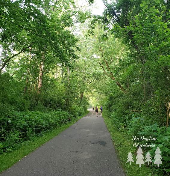 A paved trail at the Blackhand Gorge State Nature Preserve