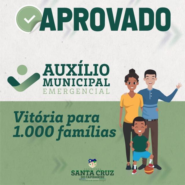 Auxílio Municipal Emergencial é aprovado em Santa Cruz do Capibaribe