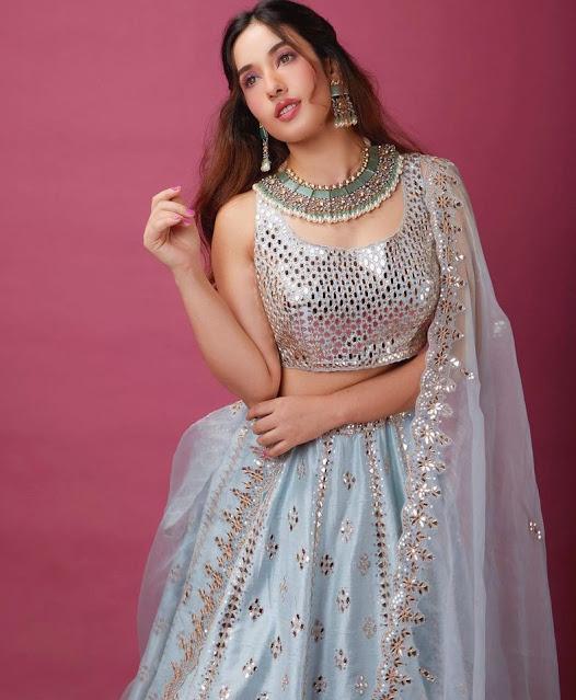 Actress Aditi Budhathoki Latest Photos in Half Saree Actress Trend