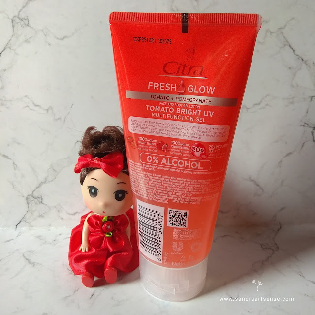 Review Citra Multifunction Gel Tomato + Pomegranate