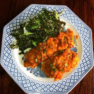 Wheat Free meals turkey stuffed sweet potatoes with crispy kale
