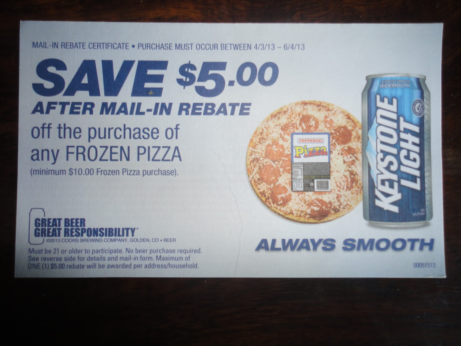 Coors Light Text Rebate