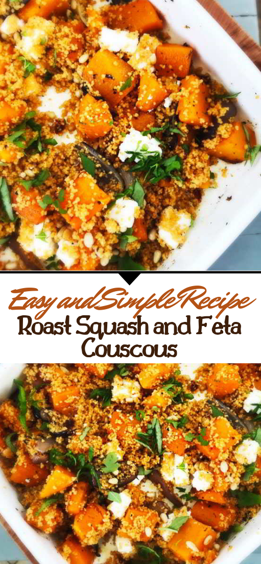 Roast Squash and Feta Couscous #healthyfood #dietketo #breakfast #food