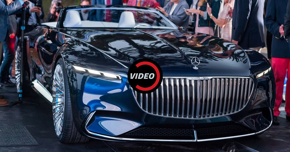 mercedes maybach 6 cabriolet concept unveiled with an electric powertrain. Black Bedroom Furniture Sets. Home Design Ideas