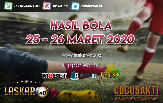 HASIL BOLA JITU TANGGAL 25 – 26 MARET 2020