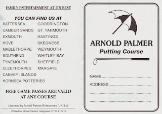 A scorecard from the Arnold Palmer Putting Courses in Skegness - this has a wonderful listing of other courses. Some of these still exist, while others have closed
