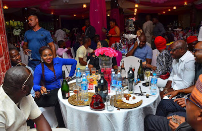CEO of Da Jesse Lounge, Ubong Jombo celebrates his child dedication in grand style (Photos)