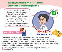 Kunci Jawaban Kelas 4 Tema 1 Subtema 3 Pembelajaran 3 www.simplenews.me