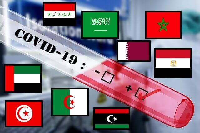 أنواع الاختبارات وترتيب حالات الاصابة بفيروس كورونا في الدول العربية