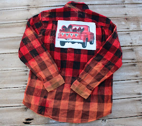 valentine shirt with hearts and truck