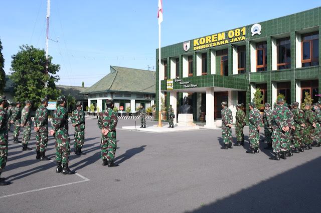 Jelang Sertijab, Ini Pesan Danrem 081/DSJ Kolonel Inf. Masduki