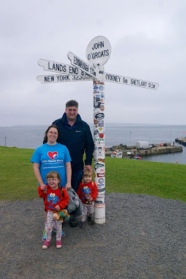 Me, hubby, Jessica and Sophie at John O'Groats