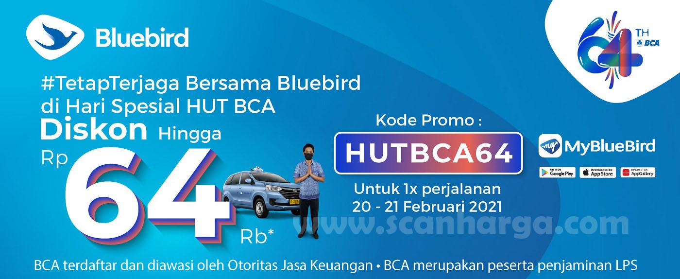 Promo HUT BCA Ke 64! Blue Bird kasih Diskon 64Ribu untuk para pelanggan