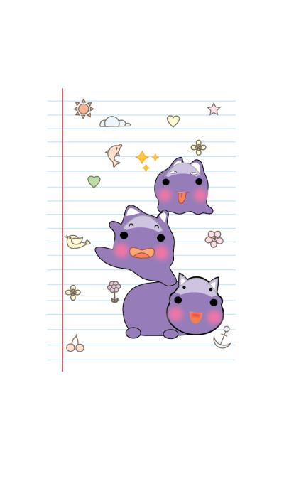 Cute hippo theme v.2