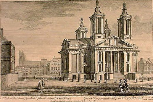 St John's Smith Square in the 18th century