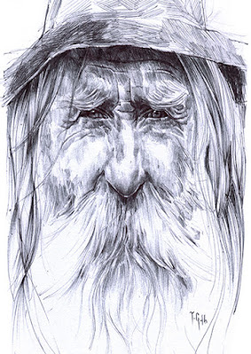 Wise wizard on Folksy