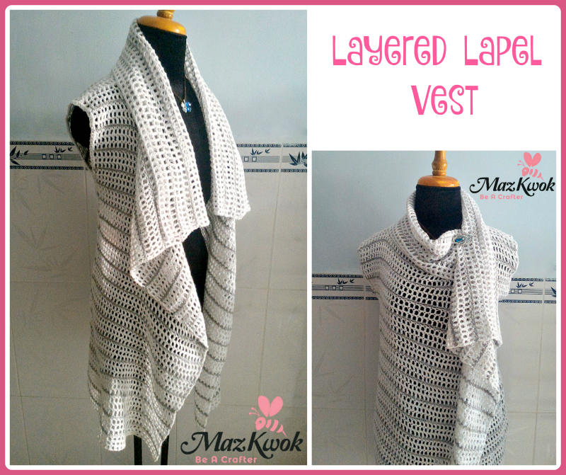 Layered Lapel Vest Free Crochet Pattern