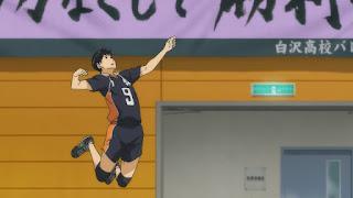 ハイキュー!! アニメ 2期12話 影山飛雄 | HAIKYU!!  Ohgiminami high vs Karasuno
