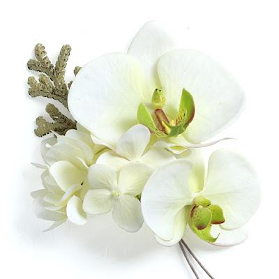 田園風胡蝶蘭の髪飾り_ウェディングブーケと花髪飾りairaka