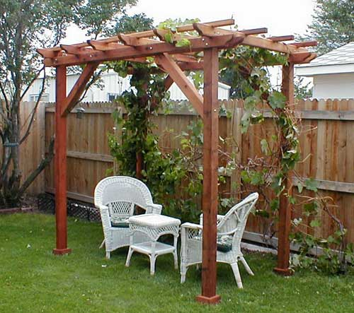 Grape Arbor Pergola Plans PDF Woodworking