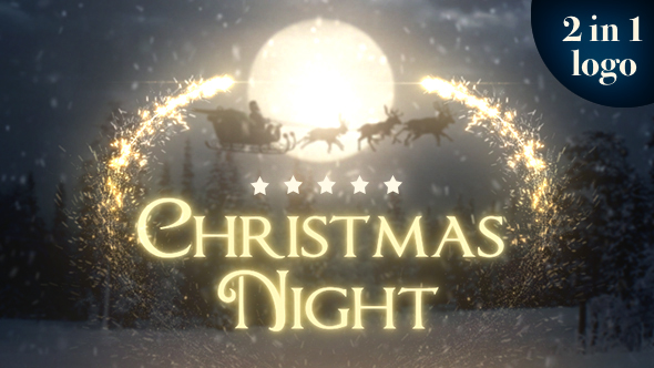 djhjf VIDEOHIVE CHRISTMAS NIGHT 2 IN 1 After Effects Template download
