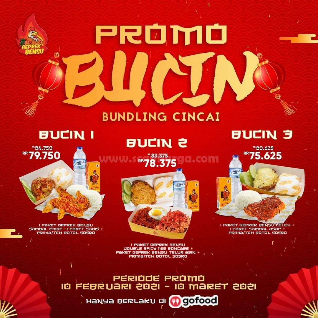 Geprek Bensu Promo GOFOOD! Paket BUCIN BUNDLING CINCAI