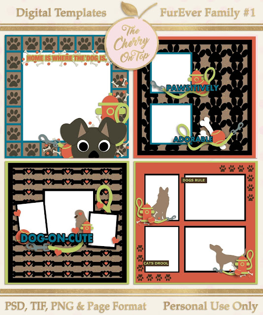 Cat Inspired Scrapbooking Templates and a Meow-Velous Free Quick Page