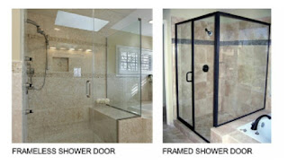Frame Frameless shower door