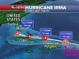 Ο τυφώνας Ίρμα είναι επικών διαστάσεων