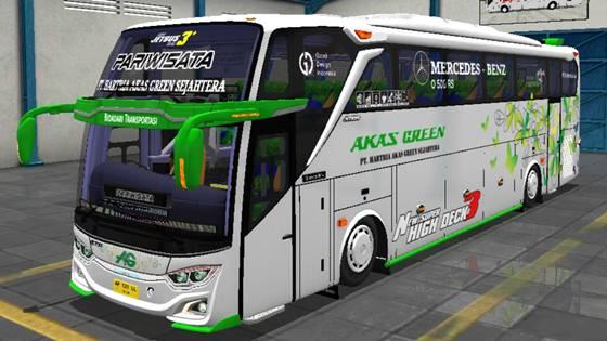 Livery JB3+ Mercedes Benz O500R Akas Green
