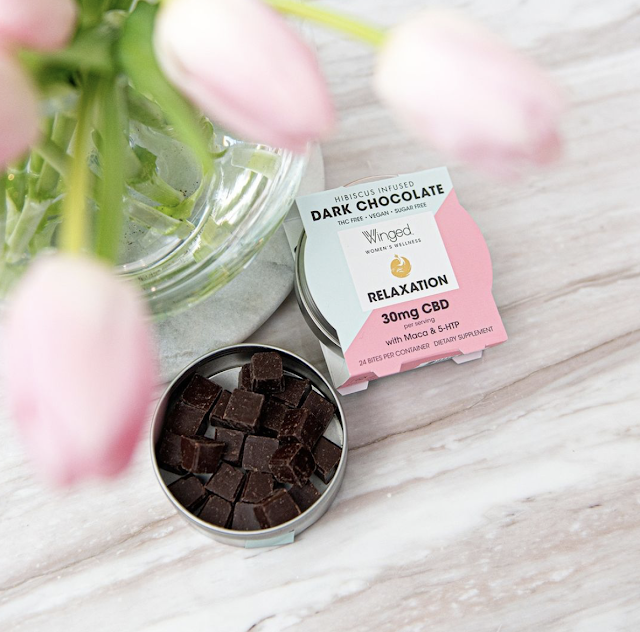 Winged CBD Dark Chocolates help support mood & relaxation. They are Sugar Free, sweetened with Monkfruit & Erythritol, Vegan, Keto-friendly & THC-Free.