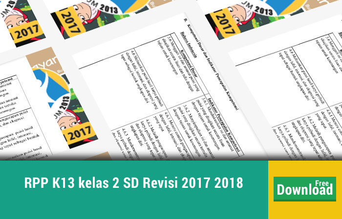 RPP K13 kelas 2 SD Revisi 2017 2018