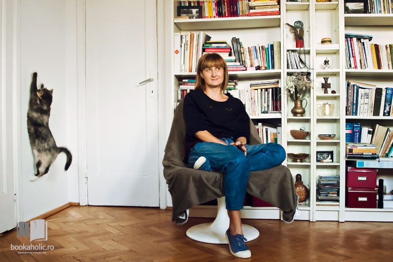 Ana Maria Sandu și pisica Vadu