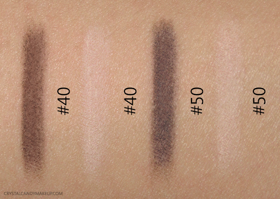 Make Up For Ever Pro Sculpting Brow Pens 40 50 Swatches