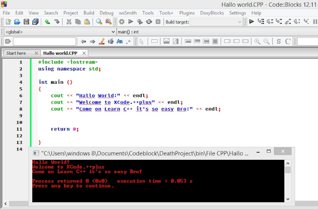 Contoh program dengan C++