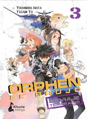 Review del manga Orphen el Brujo: El viaje Temerario Vol 3 y 4 de de Yoshinobu Akita y Yagami Yui - Kitsune Manga