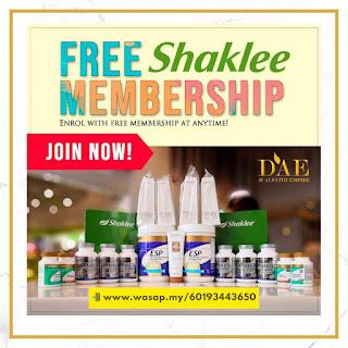daftar ahli shaklee percuma free membership shaklee