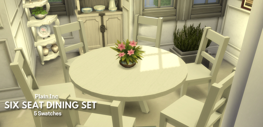 We No Longer Maintain This Site You Can Find The 6 Seat Round Dining Table On Our New Simlish Designs Here