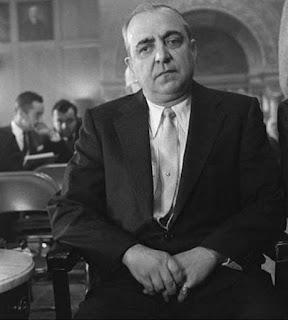 El jefe mafioso Russell Bufalino en 1958