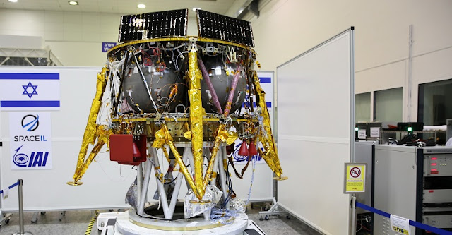 SpaceIL's spacecraft at a clean room. Photo Credit: SpaceIL.